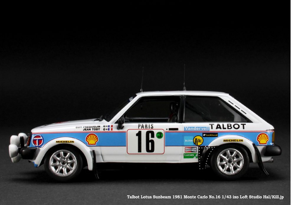 Talbot Sunbeam Lotus 1981 Monte Carlo 2nd No.16 Guy Frequelin/Jean Todt 1/43 ixo